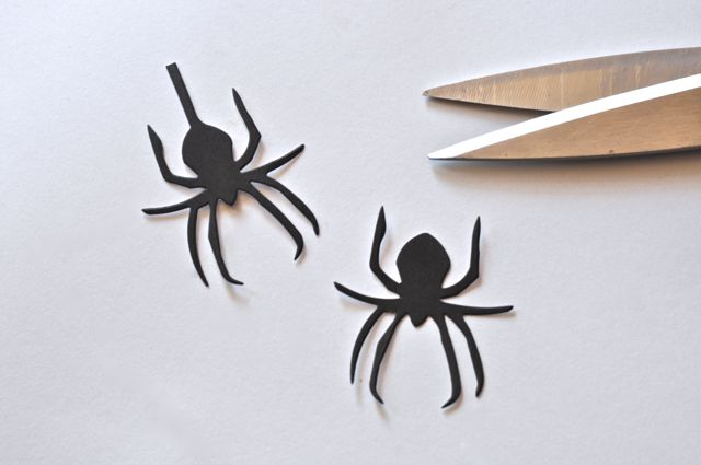 Cut the web off the Halloween Sizzix spider die