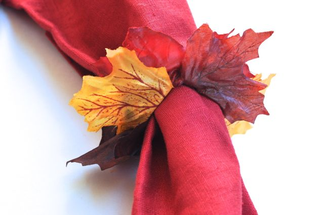 DIY Leaves Napkin Rings