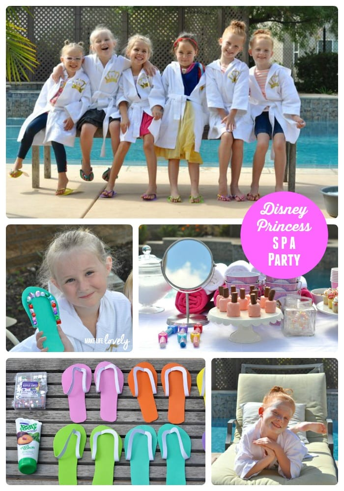 Disney Princess Spa Party for Girls