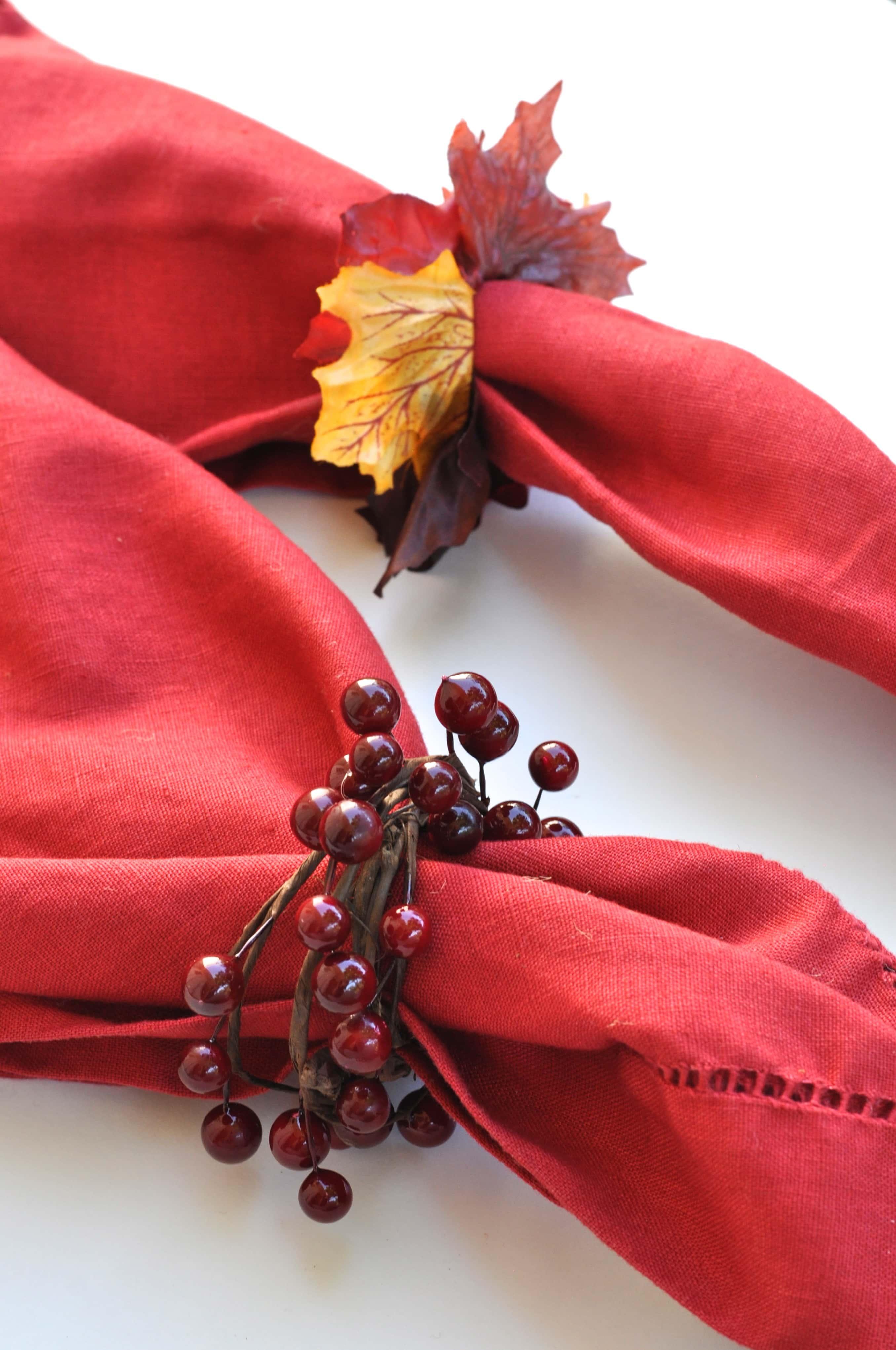 Diy Napkin Rings For Fall Make Life Lovely