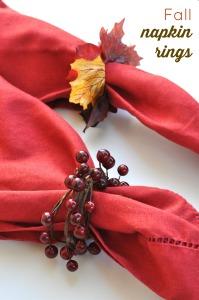 DIY Napkin Rings for Fall