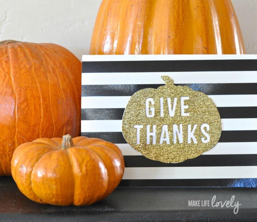 Thanksgiving Card with Tim Holtz Sizzix Dies