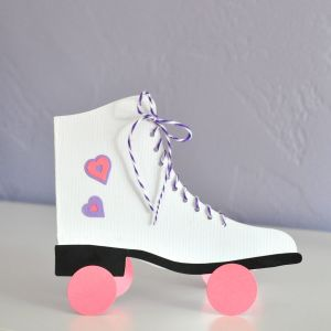 Roller Skate Card made from Sizzix and Brenda Walton's Ice Skate Die