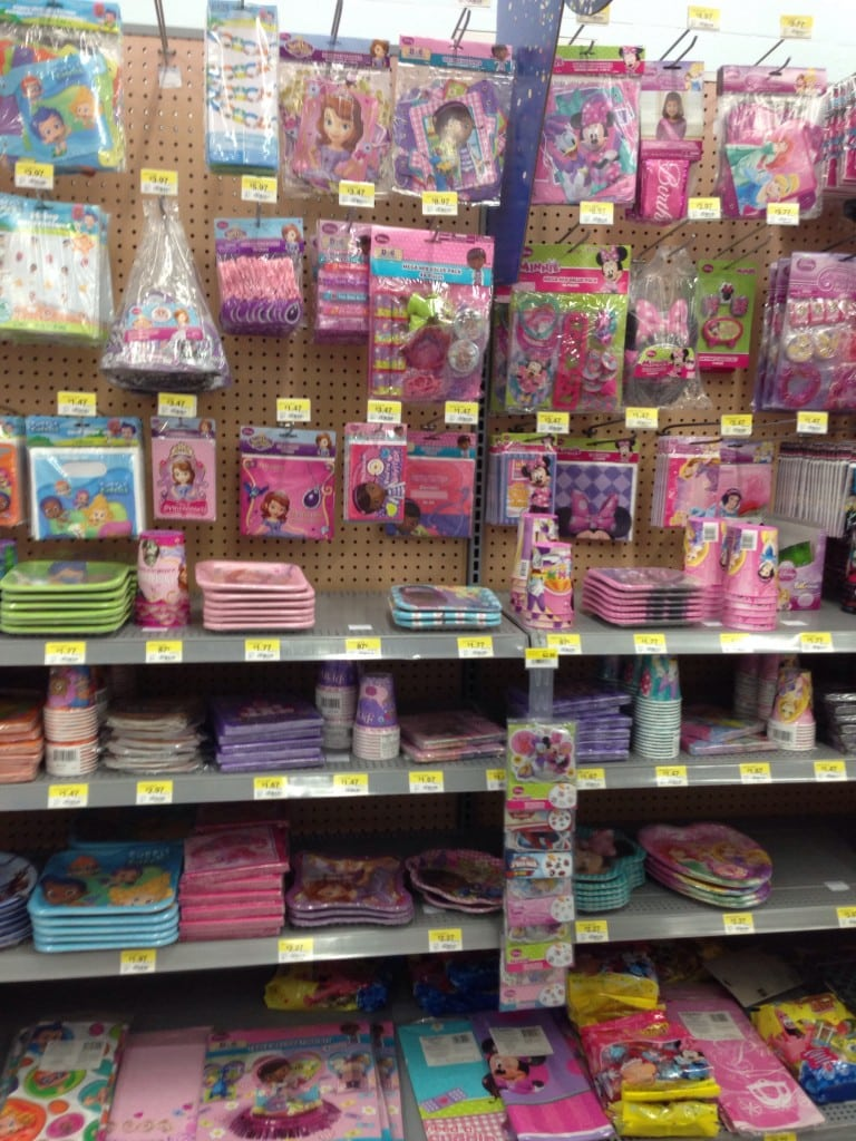 Sofia the First supplies at Walmart