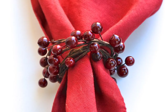 DIY Berries Napkin Rings