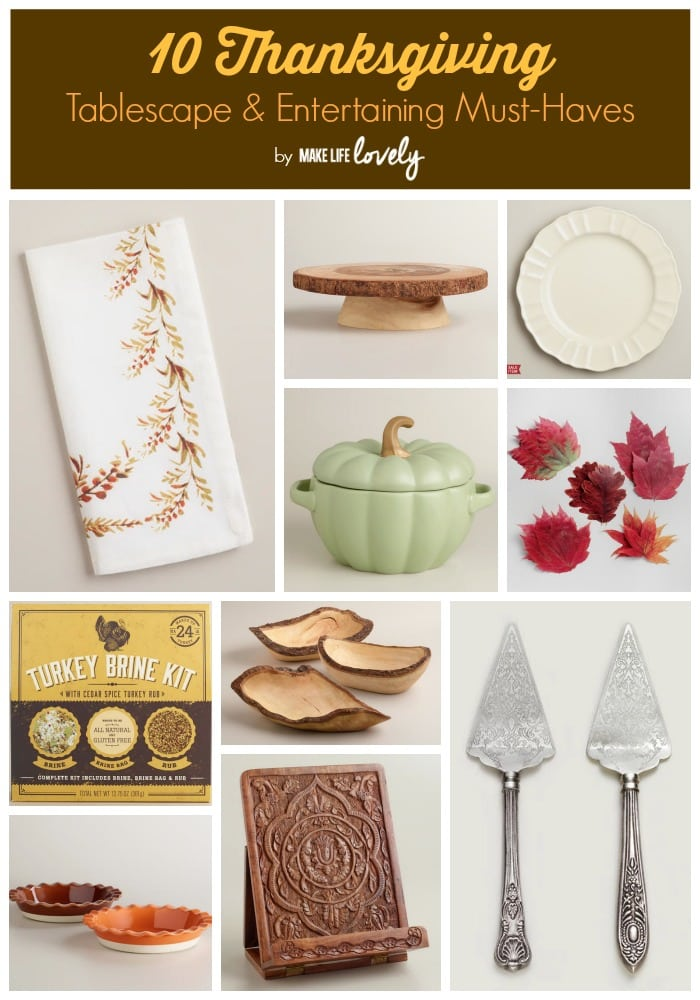 Thanksgiving Table and Entertaining Ideas