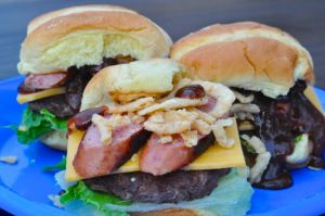 Barbecue Smoked Sausage Sliders