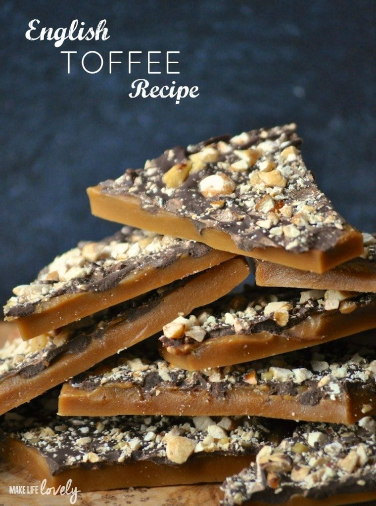 Learn how to make the BEST English toffee that looks and tastes amazing! English toffee is the perfect holiday candy treat for parties and Christmas gifts.