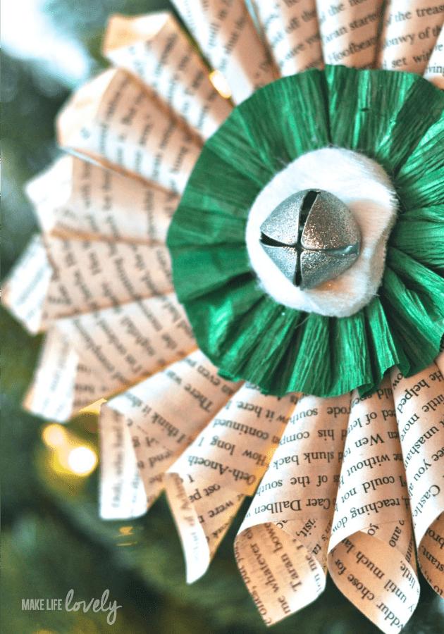 Paper medallion Christmas decoration 8