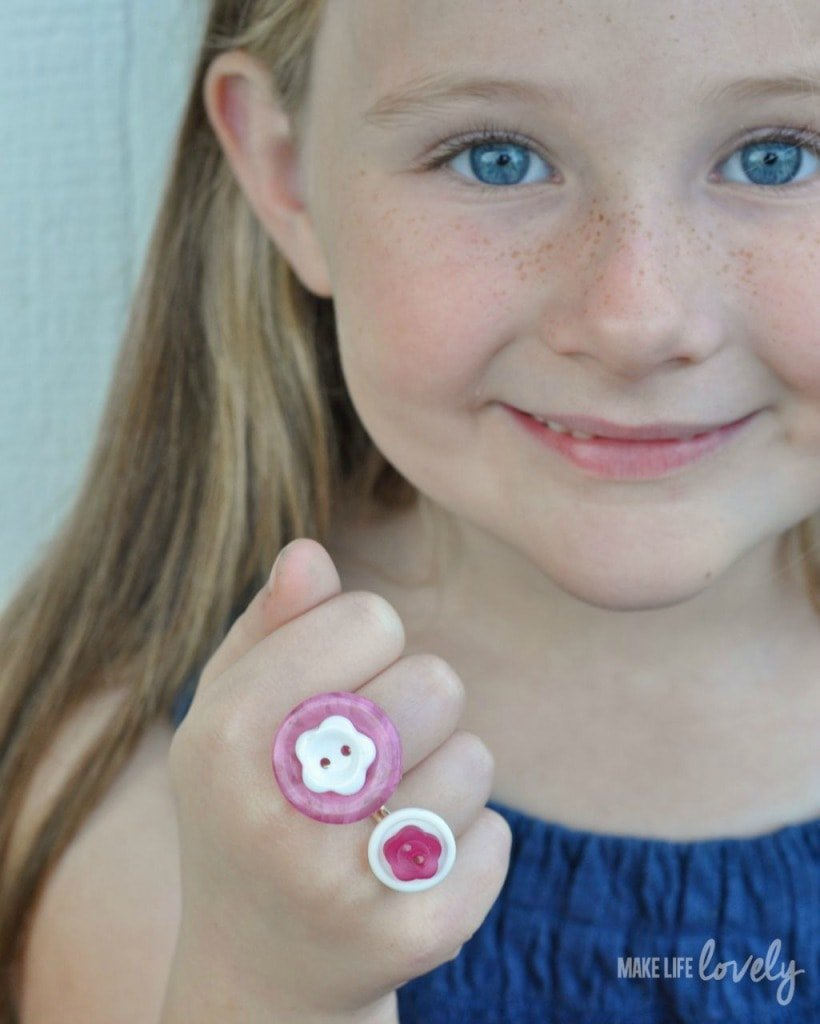 DIY Button Rings for Kids