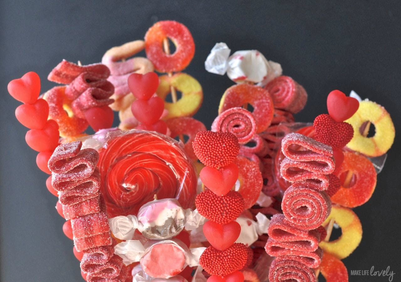 Valentine S Day Candy Bouquet Recipe Make Life Lovely