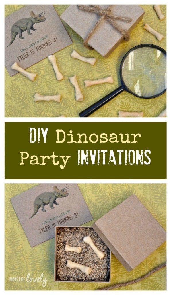 DIY DInosaur Party Invitations 3