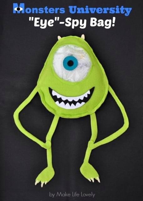 Disney's Monsters University Mike Wazowski Eye Spy Bag, by Make Life Lovely