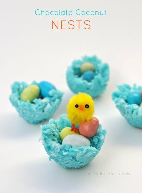 Chocolate Coconut Nests for Easter