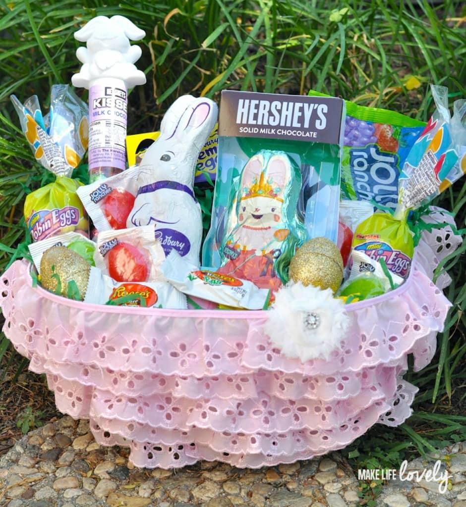 DIY Easter basket for girls