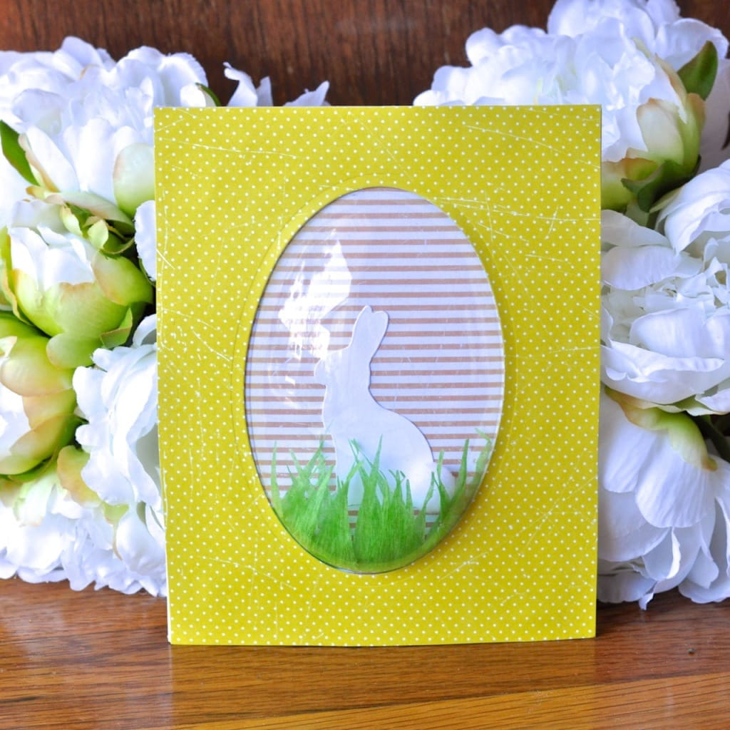 Easter bunny decoration with Sizzix