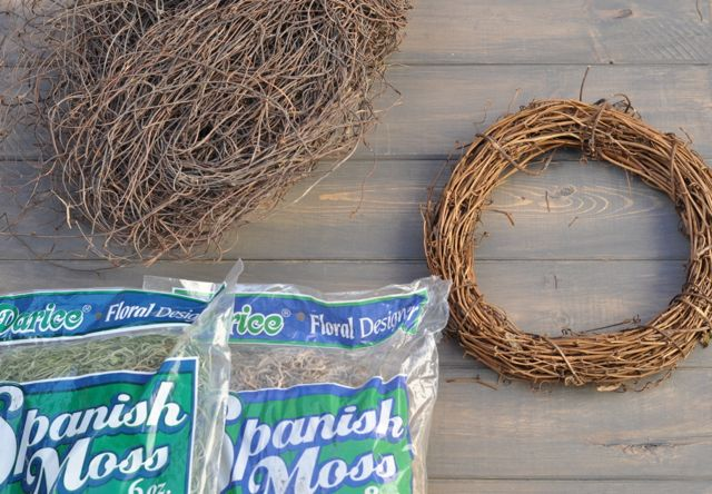 DIY bird nest supplies