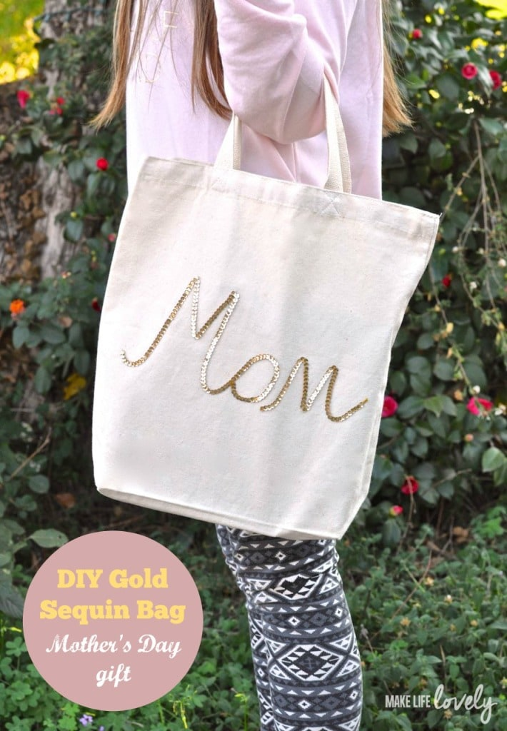 Gold Sequin Bag Mother's Day Gift