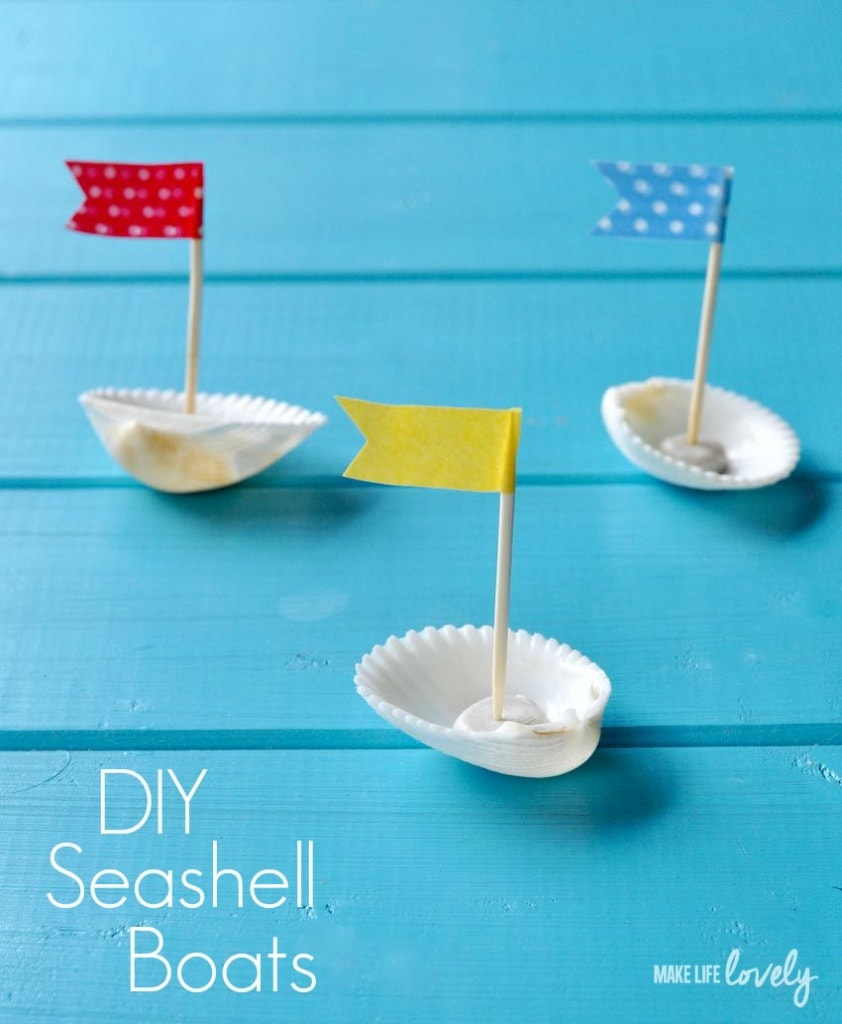 DIY Seashell Boats
