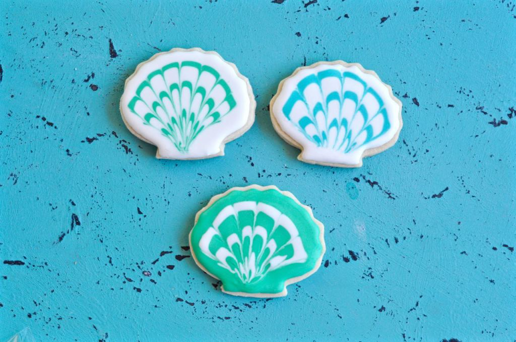 How to decorate seashell cookies