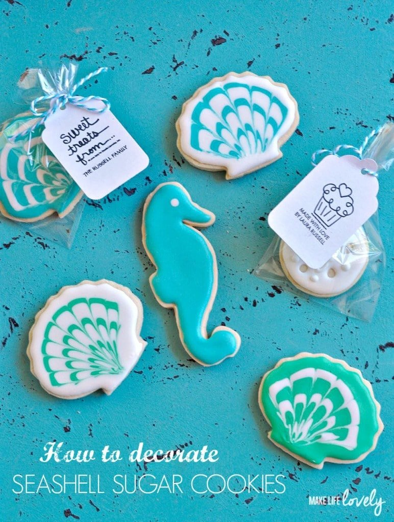 How to decorate seashell sugar cookies