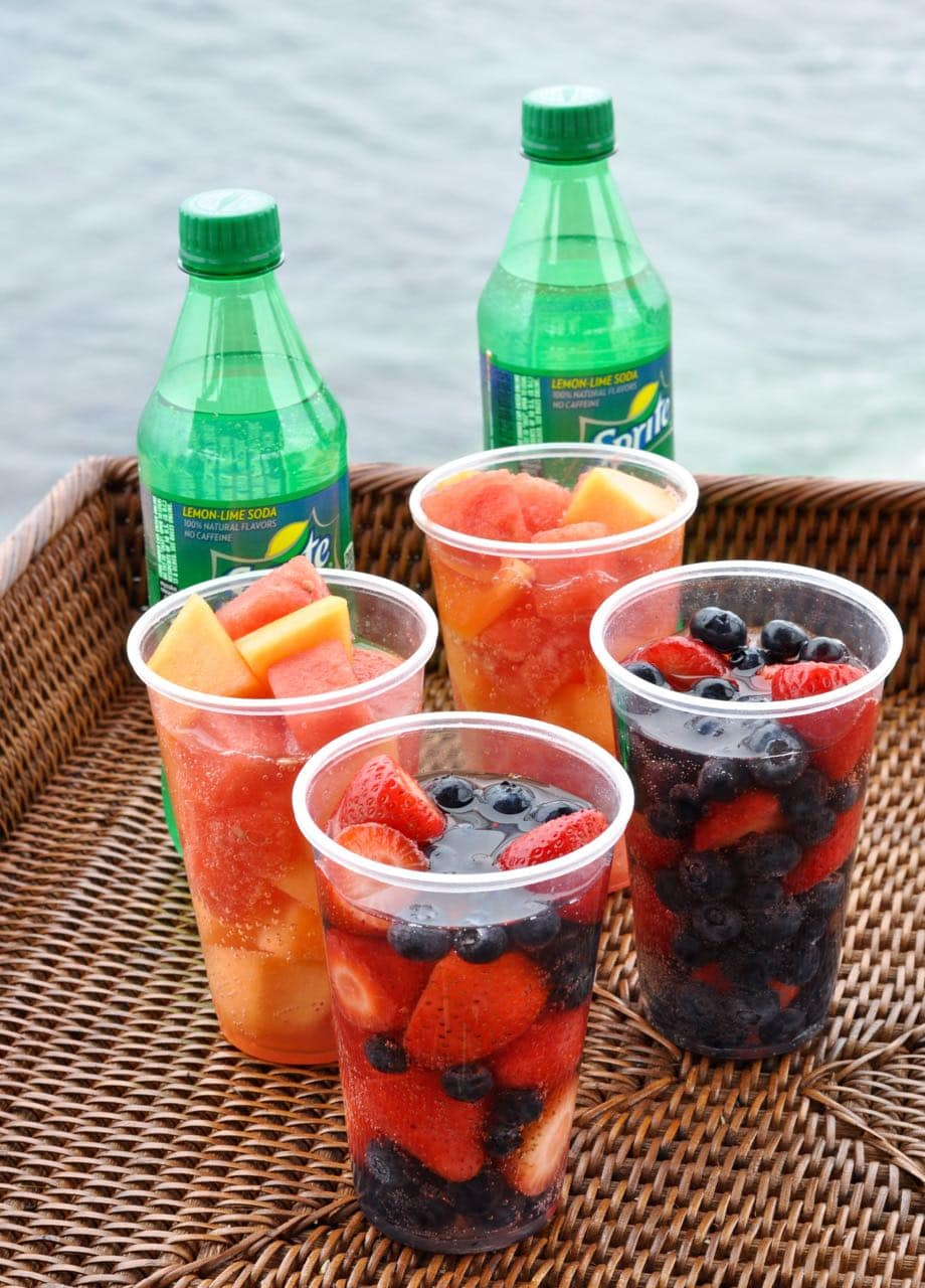 Sprite Fruit Cups.  So refreshing and delicious!