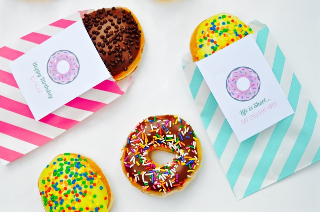 Free Printable Donut Tags