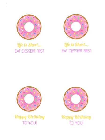 Free Printable Donut Tags by Make Life Lovely