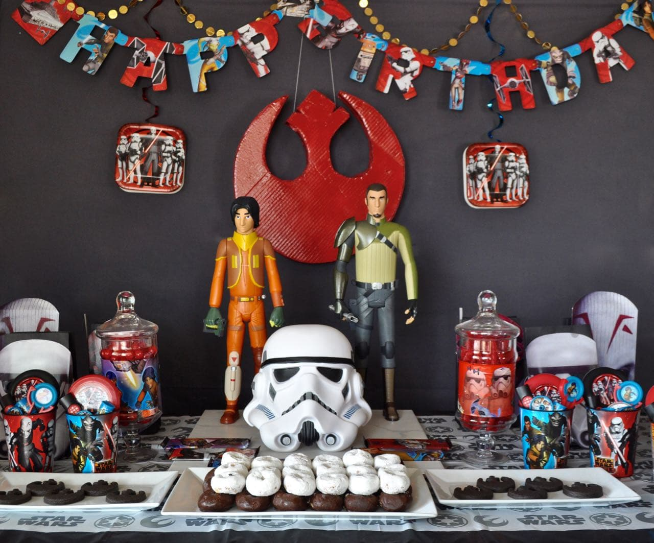 8 ~ Birthday Party Supplies Lunch Dinner STAR WARS Rebels LARGE PAPER PLATES
