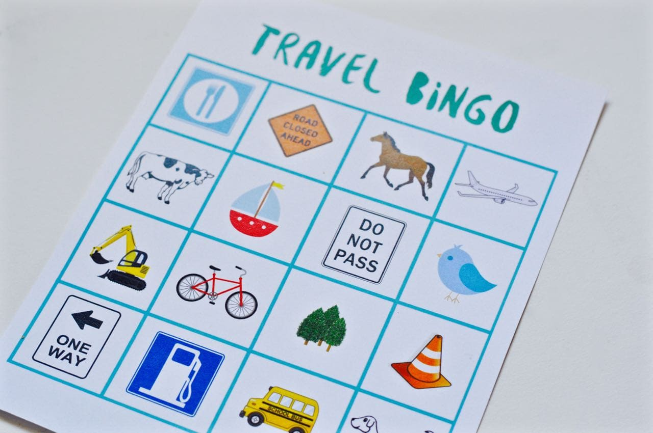 image relating to Travel Bingo Printable named Totally free Printable Drive Bingo Activity - Produce Lifestyle Magnificent