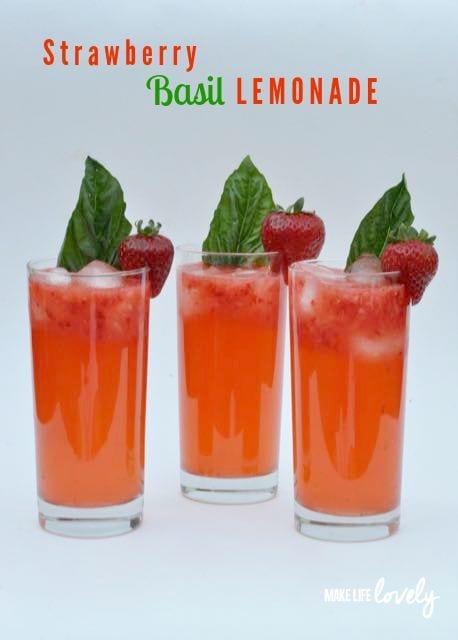 Strawberry basil lemonade recipe - Lemonade recipes popular less known ...