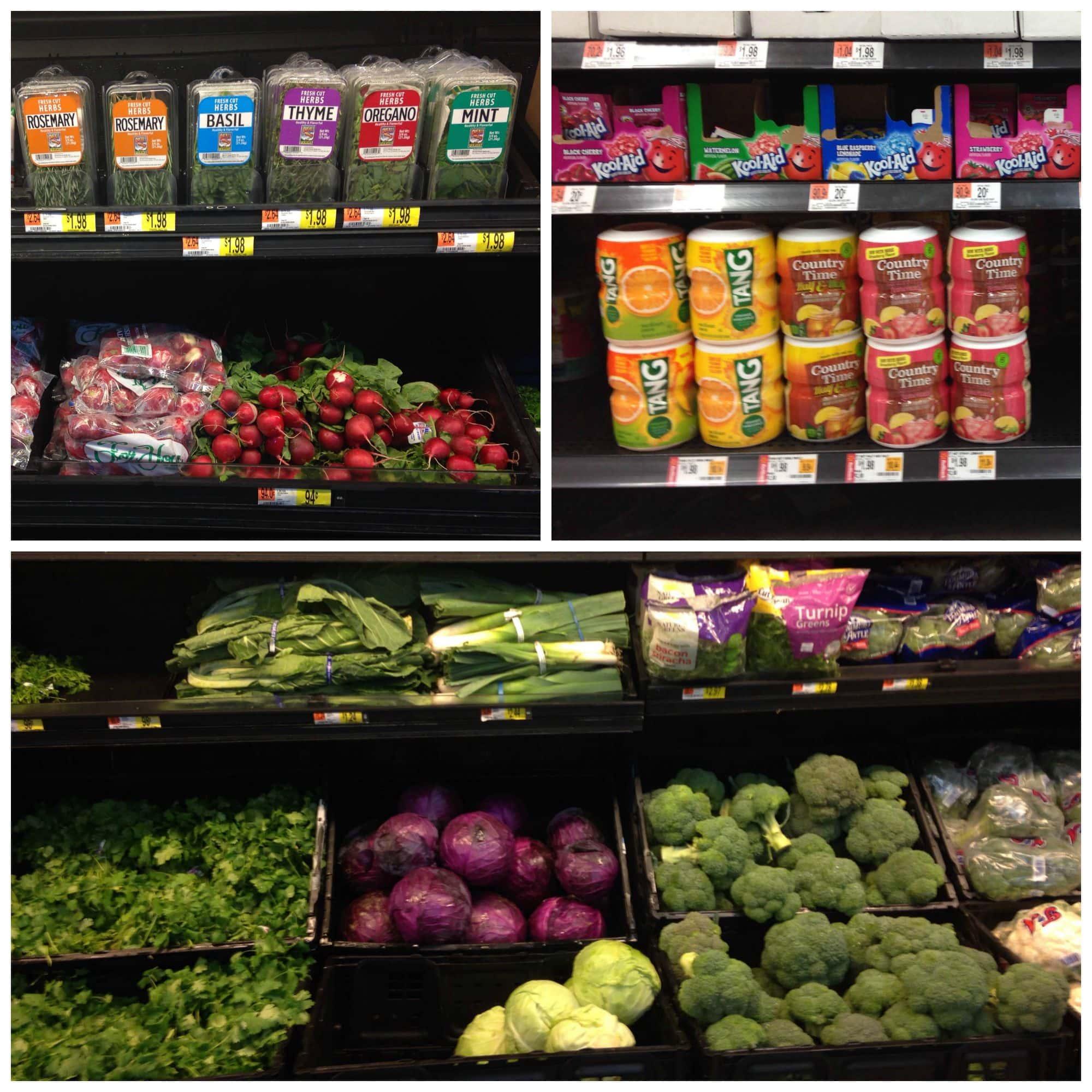 Produce at Walmart