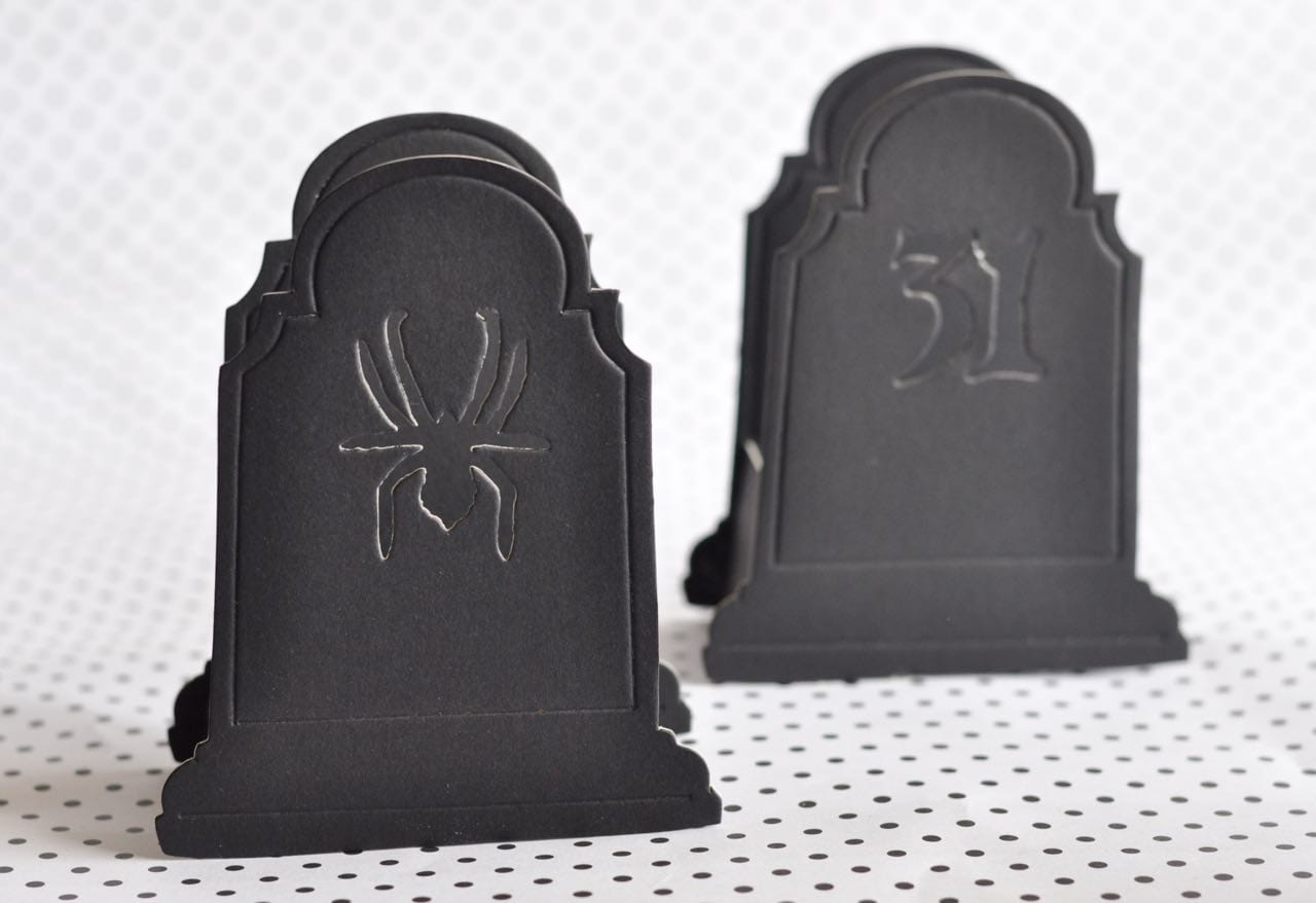 Halloween Gravestone Treat Box with Sizzix