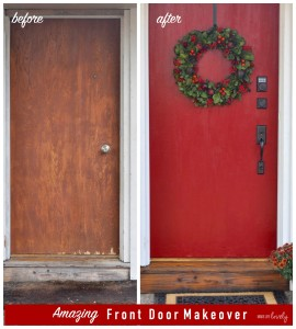 Amazing Front Door Makeover Before and After