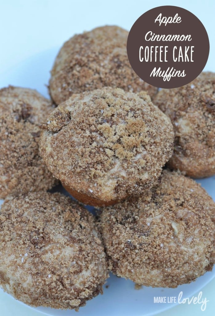 Apple Cinnamon Coffee Cake Muffins