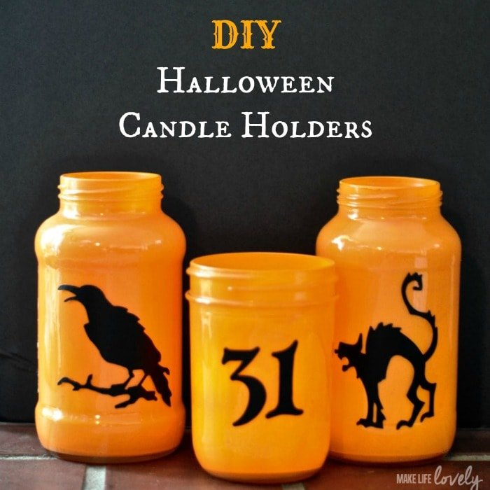 diy halloween candle holders make life lovely - Diy Candle Holders