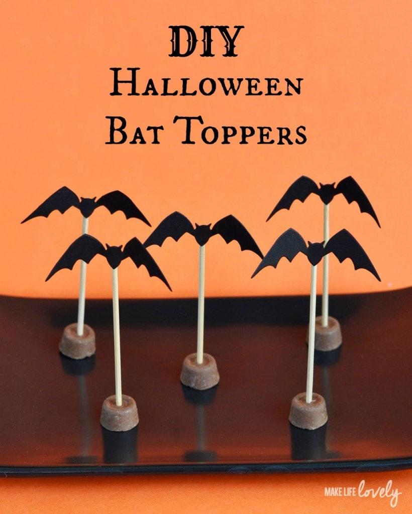 DIY Halloween Bat Toppers
