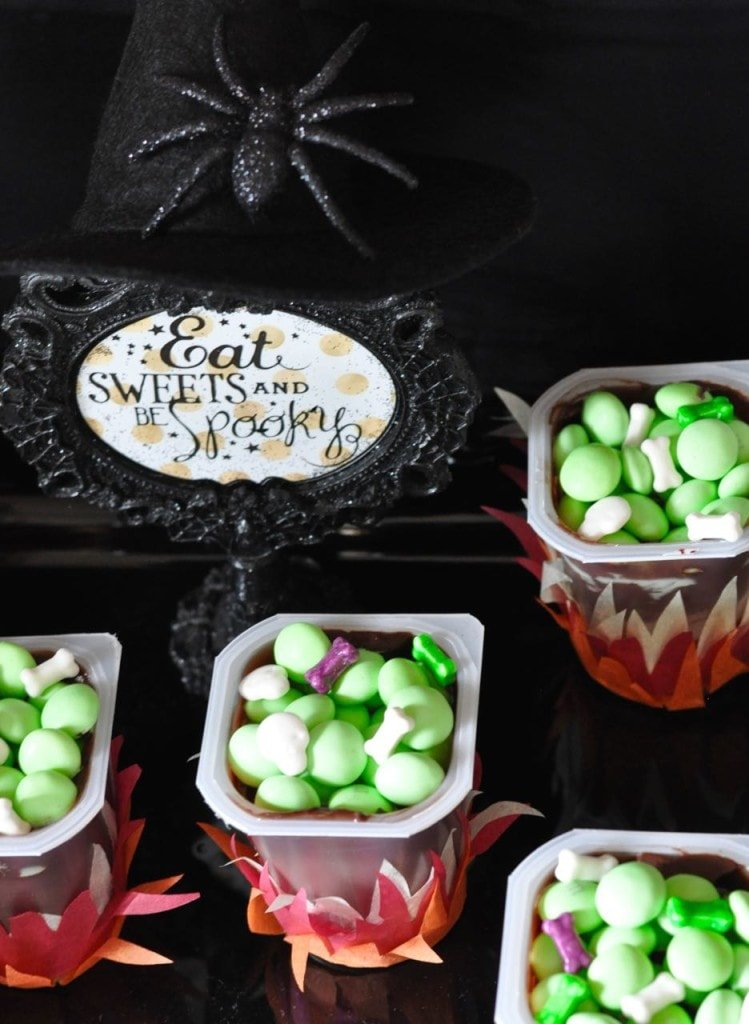 Witch Cauldrons Halloween Party Food