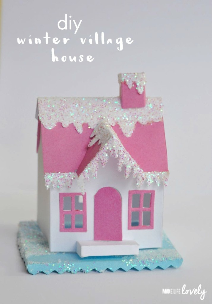 DIY Winter Village House with Sizzix and Tim Holtz Village Dwelling die
