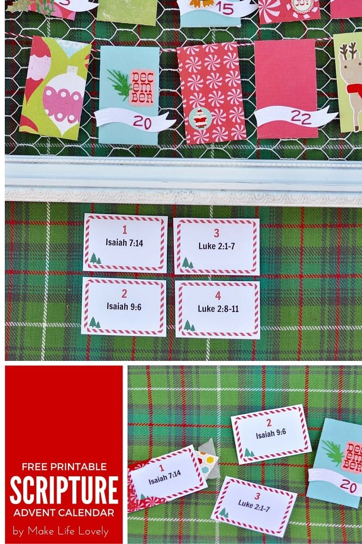 Free Printable Christmas Advent Scripture Cards Make Life Lovely