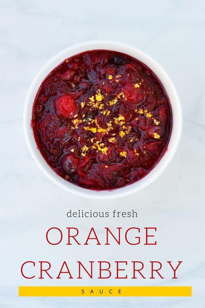 Delicious Fresh Orange Cranberry Sauce Recipe