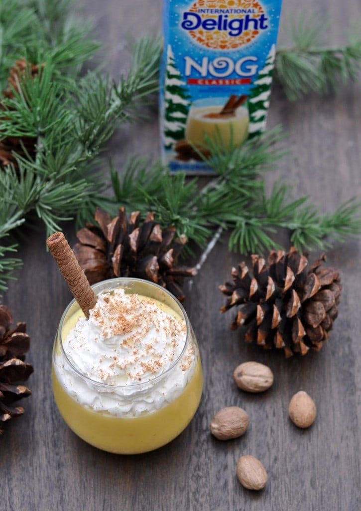 Egg Nog Pudding Recipe. The perfect holiday treat that takes just 10 minutes from start to finish!