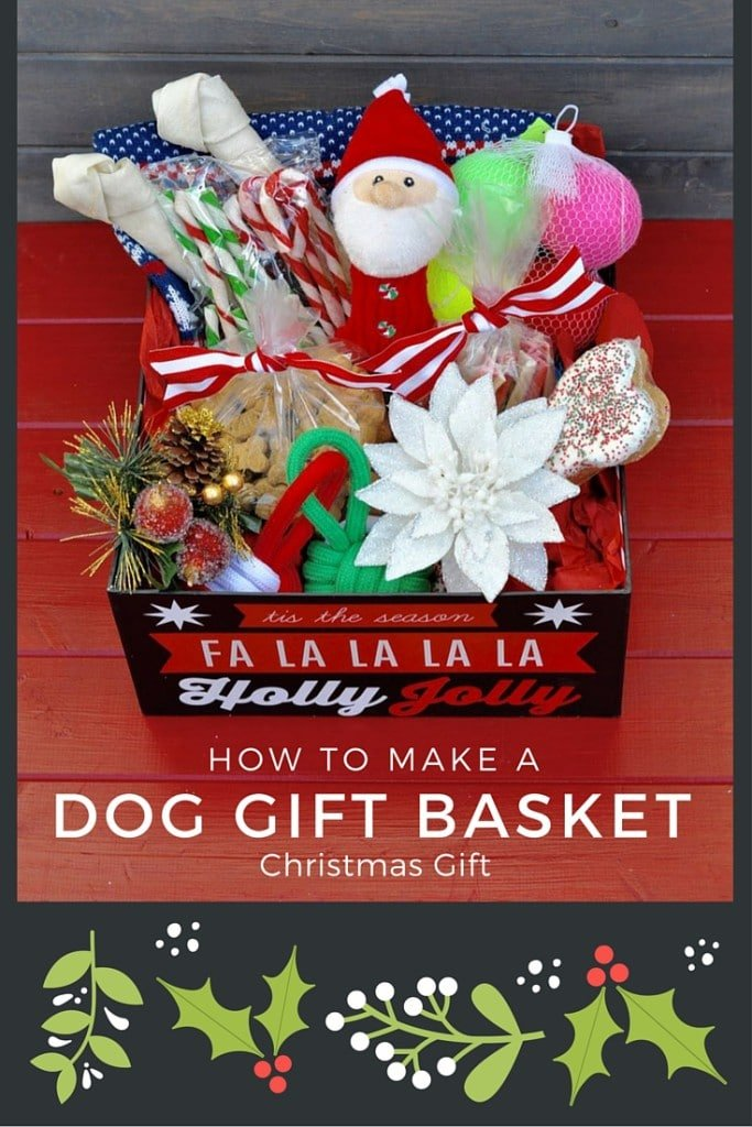 How to make a dog basket Christmas gift