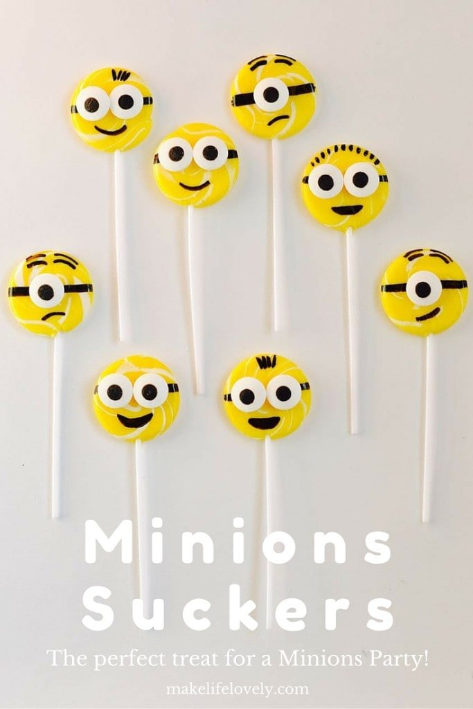 Minions Suckers Tutorial, perfect for a Minions Party!