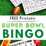 super bowl bingo cards and candy
