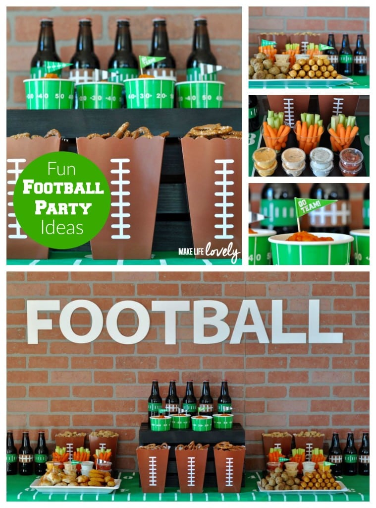 Football Party Ideas, perfect for your next football or Super Bowl party!