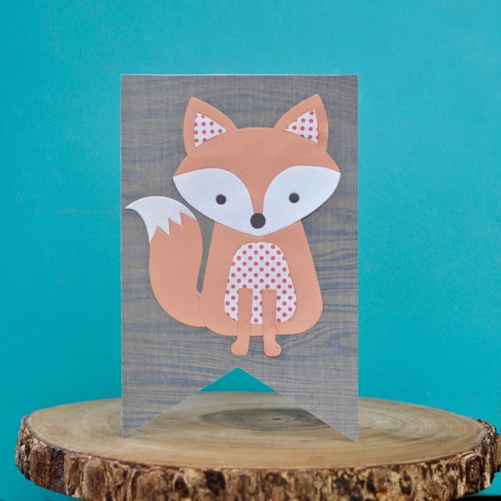 Fox Card with Sizzix