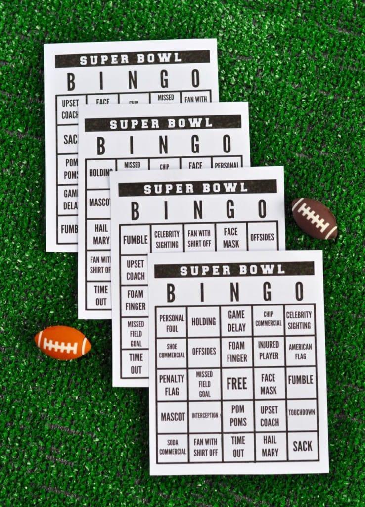 Super Bowl Party + Free Printable Super Bowl Bingo - Make Life Lovely