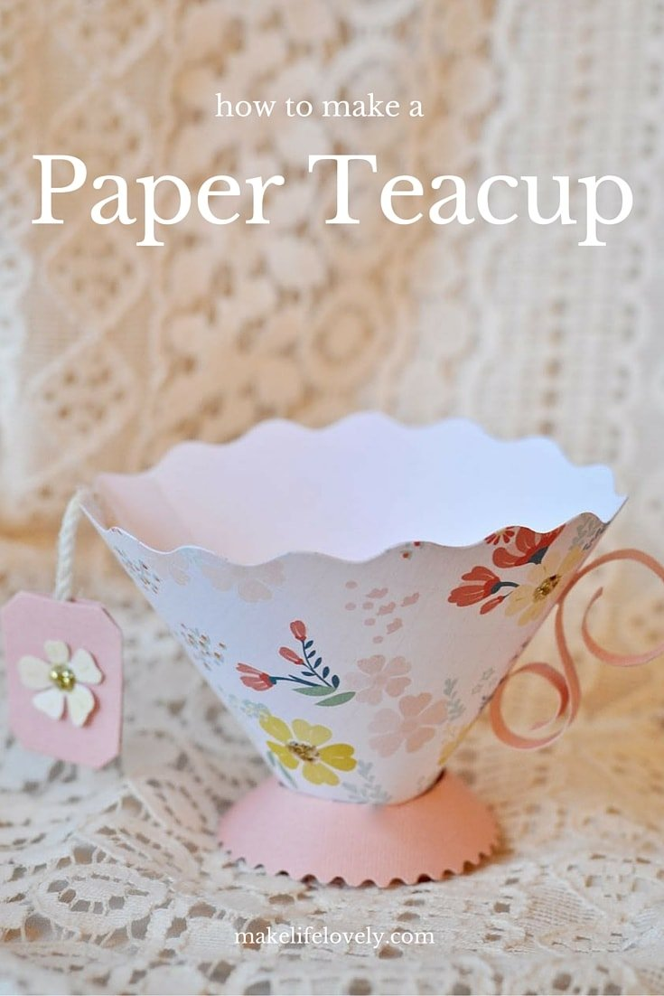 paper teacup party favor make life lovely