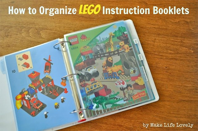 How to organize Lego instruction booklets